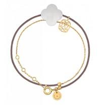 Morganne Bello Morganne Bello gold bracelet Liane with Agate stone white