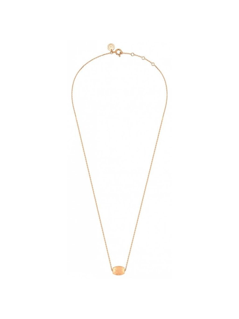 Morganne Bello Morganne Bello rose gold necklace with Cushion stone