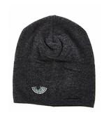 Chiara Ferragni Flirting beanie hat with rhinestone gray