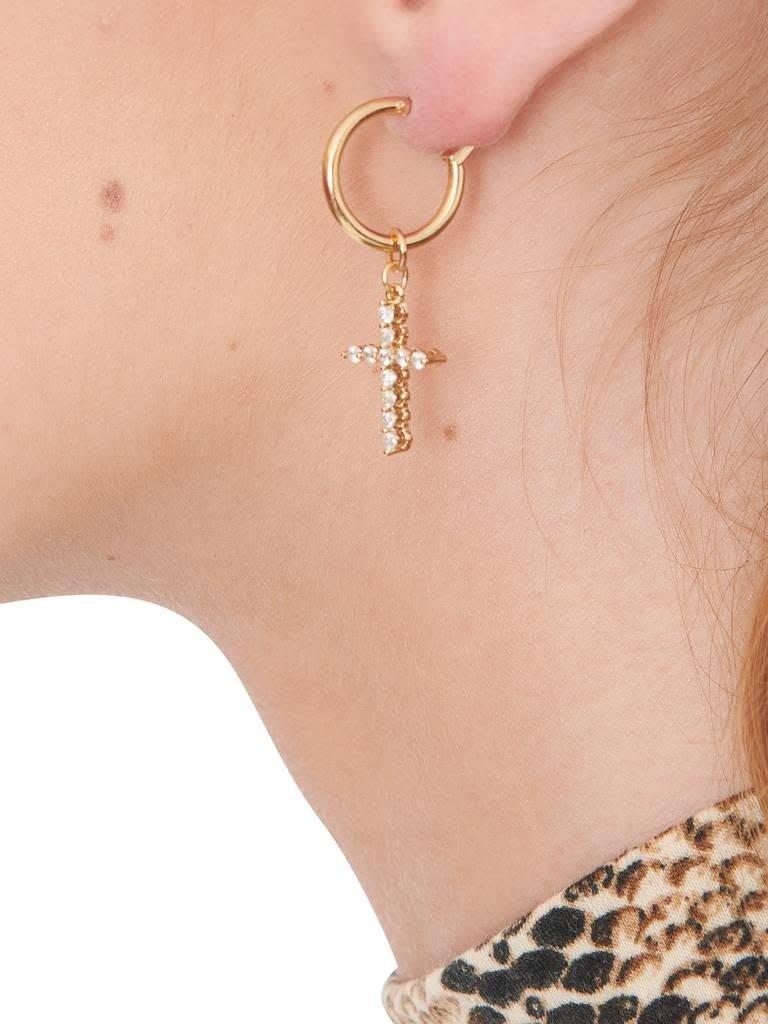 Vanessa Mooney Vanessa Mooney Rita Cross gouden oorbellen