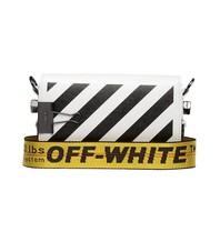 Off-White OFF-WHITE mini Diag flap schoudertas wit