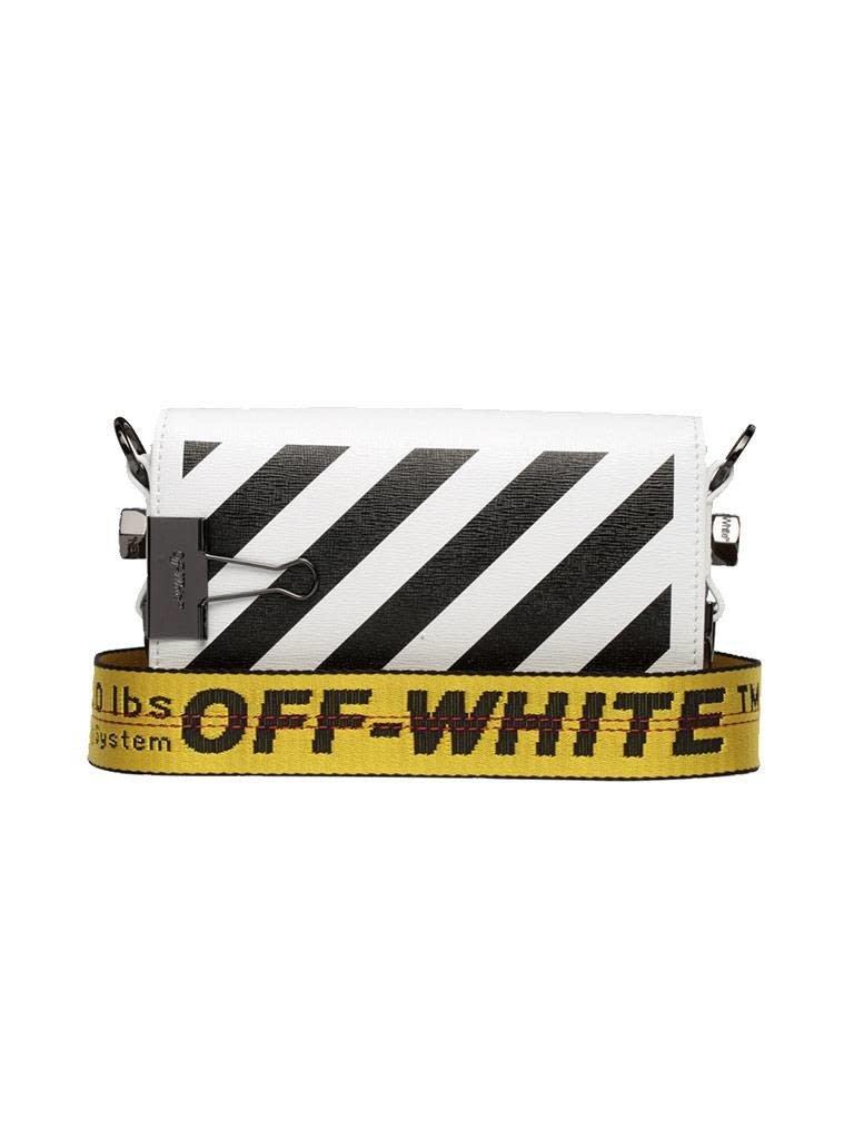 Off-White OFF-WHITE mini Diag flap shoulder bag white