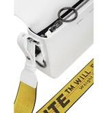 Off-White OFF-WHITE Mini Diag Flap-Schultertasche weiß