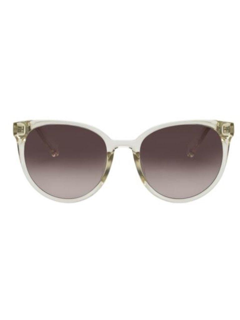 Le Specs Le Specs Armada Sonnenbrille transparent weiß braun