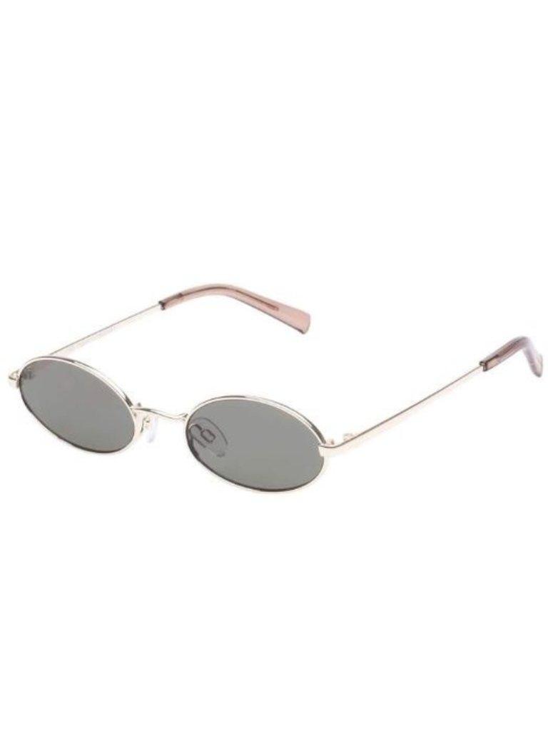 Le Specs Le Specs Love train zonnebril goud khaki