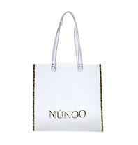 Núnoo Núnoo shopper transparant met luipaardprint details small