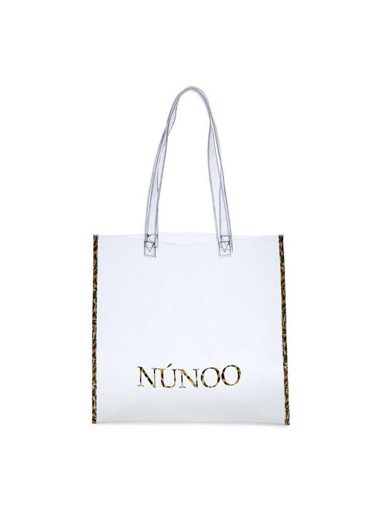 Núnoo Núnoo shopper transparent with leopard print details small