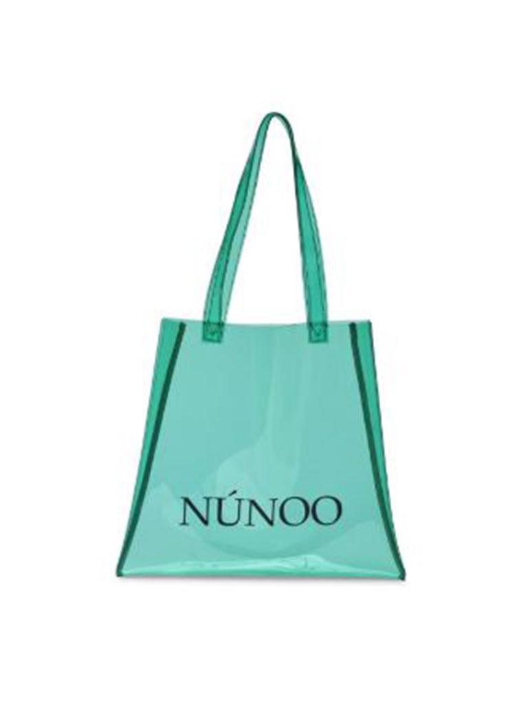 Núnoo Núnoo shopper transparant mint groen small