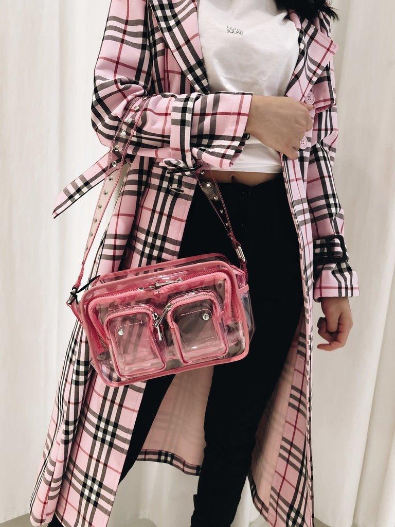 Núnoo Núnoo Ellie Tasche transparent pink large