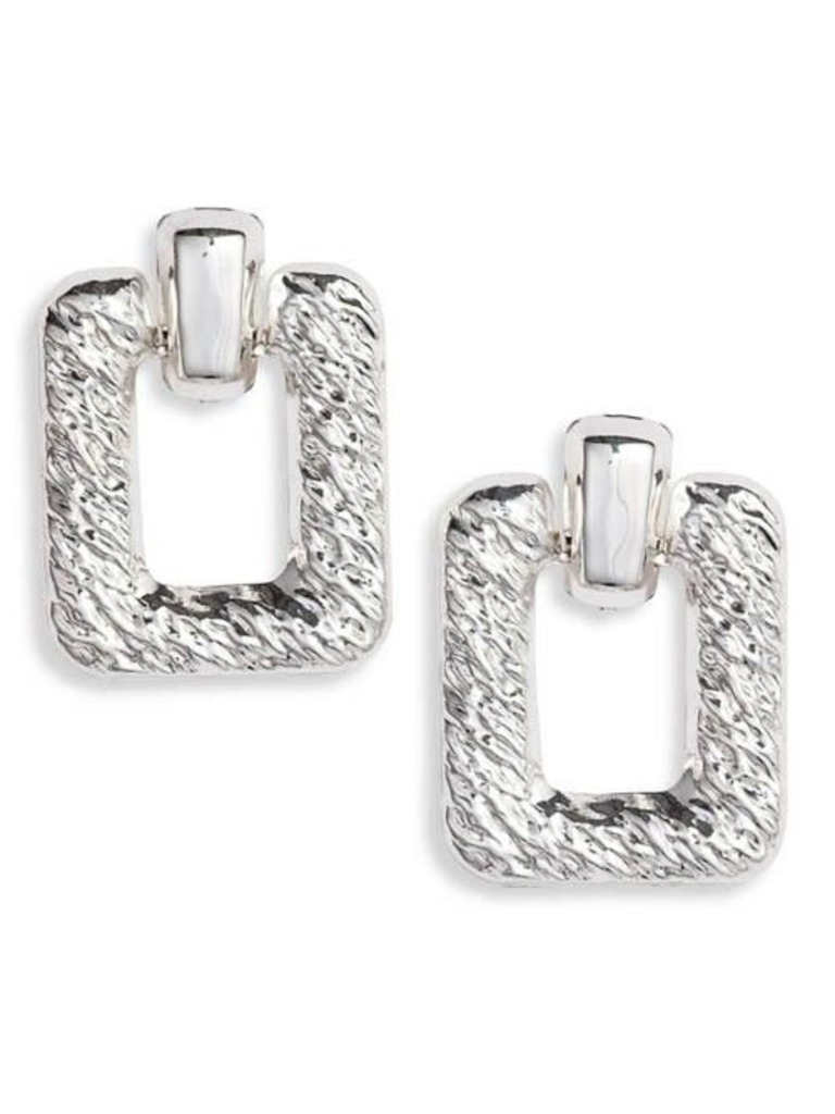 8 Other Reasons 8 Other Reasons x Jill Jacobs Quinn hoops earrings silver