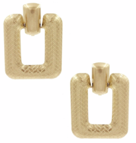 8 Other Reasons 8 Other Reasons x Jill Jacobs Impress hoops earrings gold
