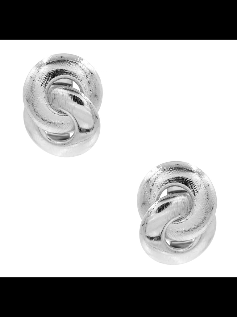 8 Other Reasons 8 Other Reasons x Jill Jacobs Lou hoops earrings silver