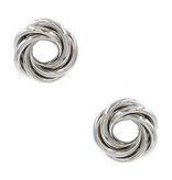 8 Other Reasons 8 Other Reasons x Jill Jacobs twisted earrings silver