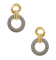 8 Other Reasons 8 Other Reasons x Jill Jacobs triple hoops earrings blue gold