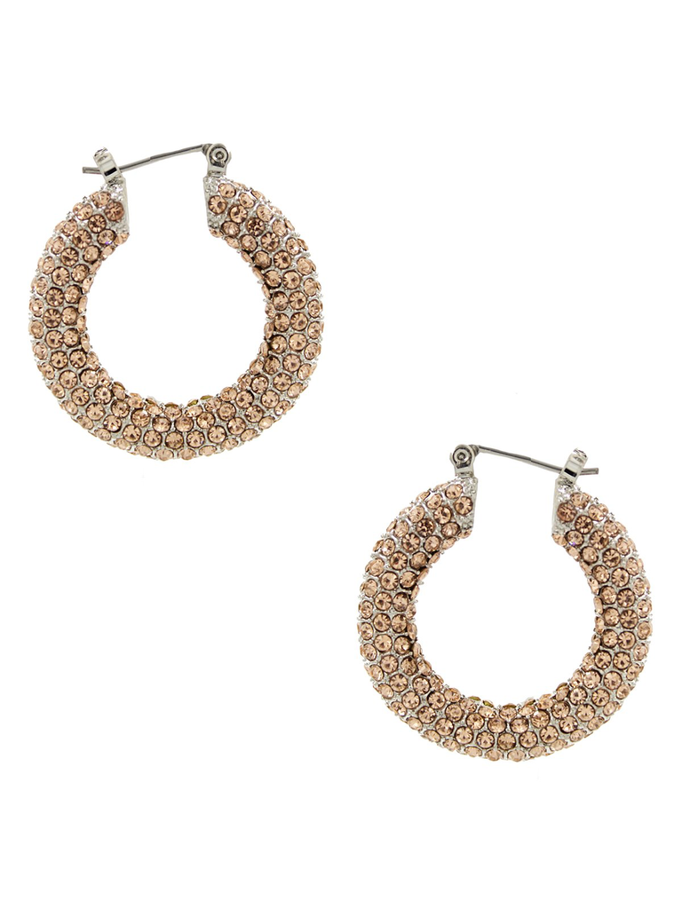 8 Other Reasons 8 Other Reasons x Jill Jacobs rhinestone champagne earrings