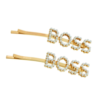 8 Other Reasons 8 Other Reason Boss hair clip gold