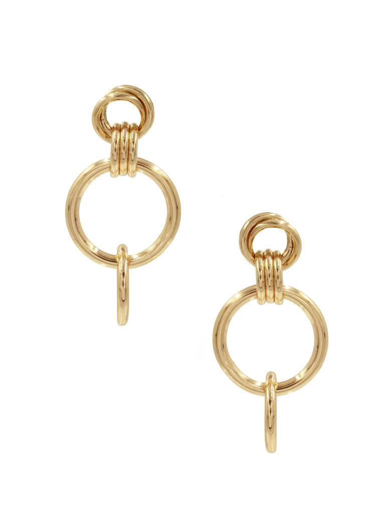 8 Other Reasons 8 Other Reasons x Jill Jacobs earrings with rings gold