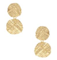 8 Other Reasons 8 Other Reasons x Jill Jacobs oorbellen met textuur goud