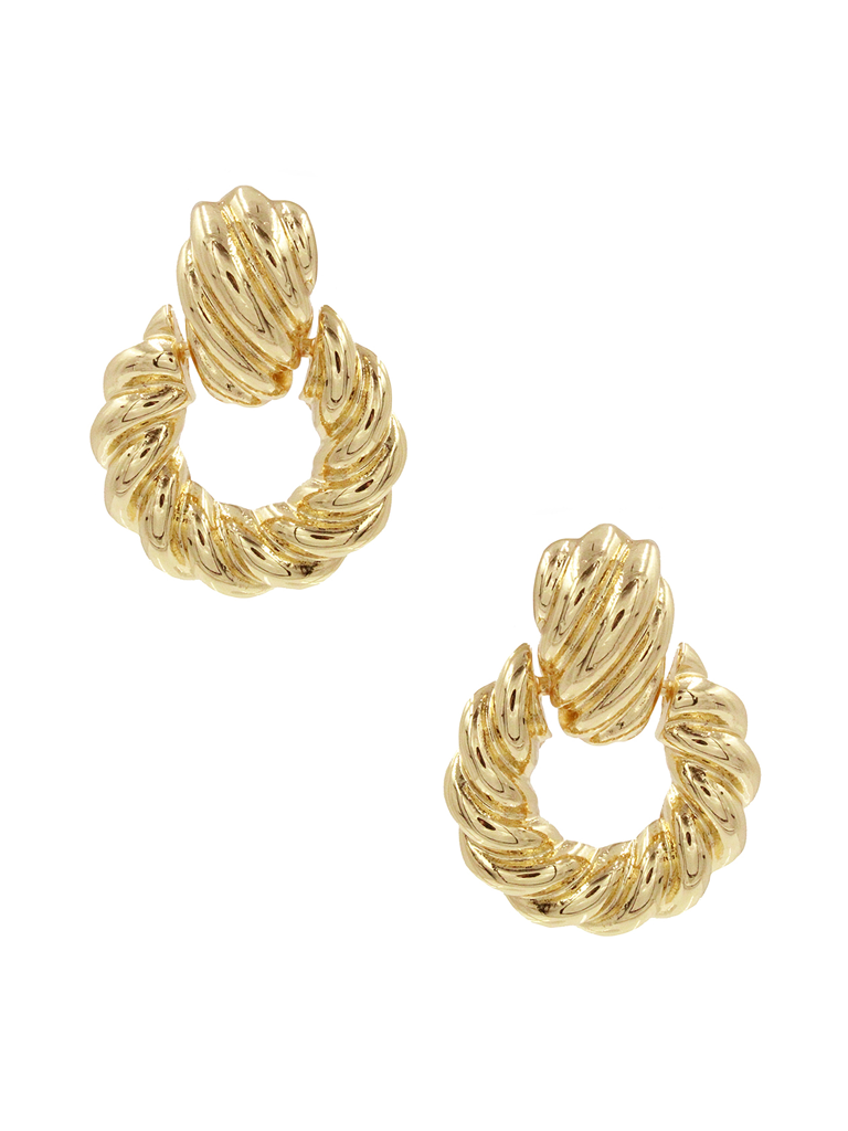 8 Other Reasons 8 Other Reasons x Jill Jacobs earrings with twisted gold details
