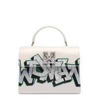 Off-White OFF-WHITE Jitney 2.8 mit Graffiti-Print weiß