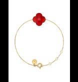 Morganne Bello Morganne Bello gold bracelet with Cornaline stone red