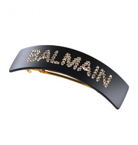 Balmain Hair Couture Balmain Hair Couture barrette with logo black