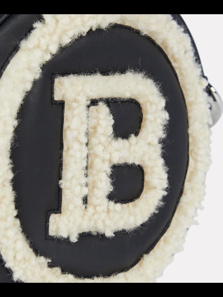 Balmain Balmain sheerling mini logo crossbody tas zwart