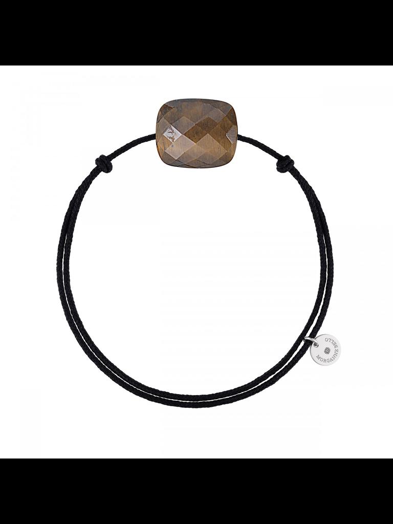 Morganne Bello Morganne Bello cord bracelet with tiger eye stone black
