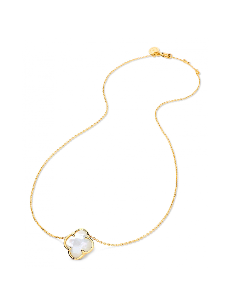 Morganne Bello Morganne Bello necklace with clover stone mother-of-pearl yellow gold
