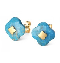 Morganne Bello Morganne Bello earrings turquoise yellow gold