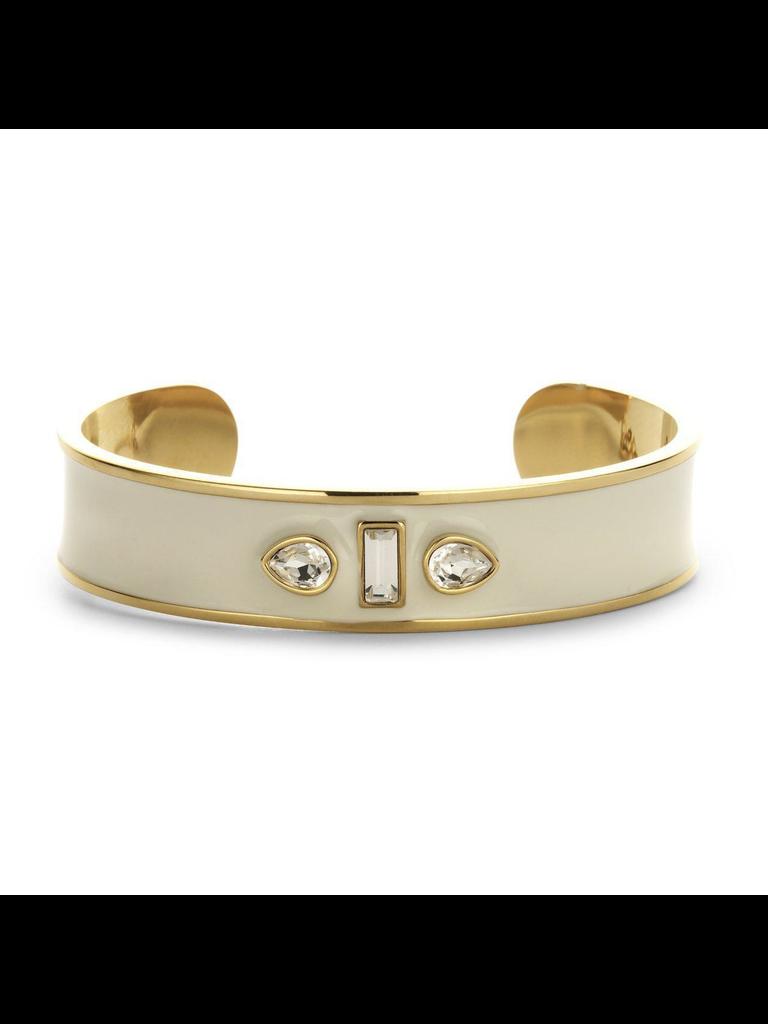 Souvenirs de Pomme Souvenirs de Pomme Sophia Cuff Enamel armband goud ecru
