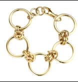 Souvenirs de Pomme Souvenirs de Pomme Rounds large chain armband goud