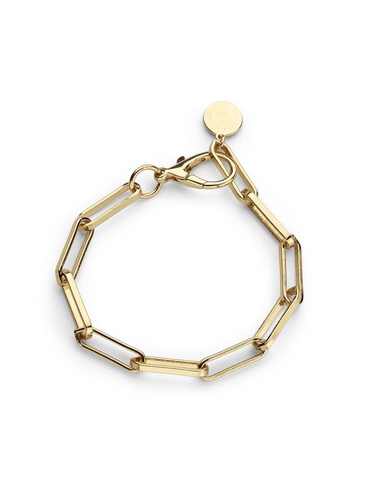 Souvenirs de Pomme Souvenirs de Pomme Link chain small armband goud