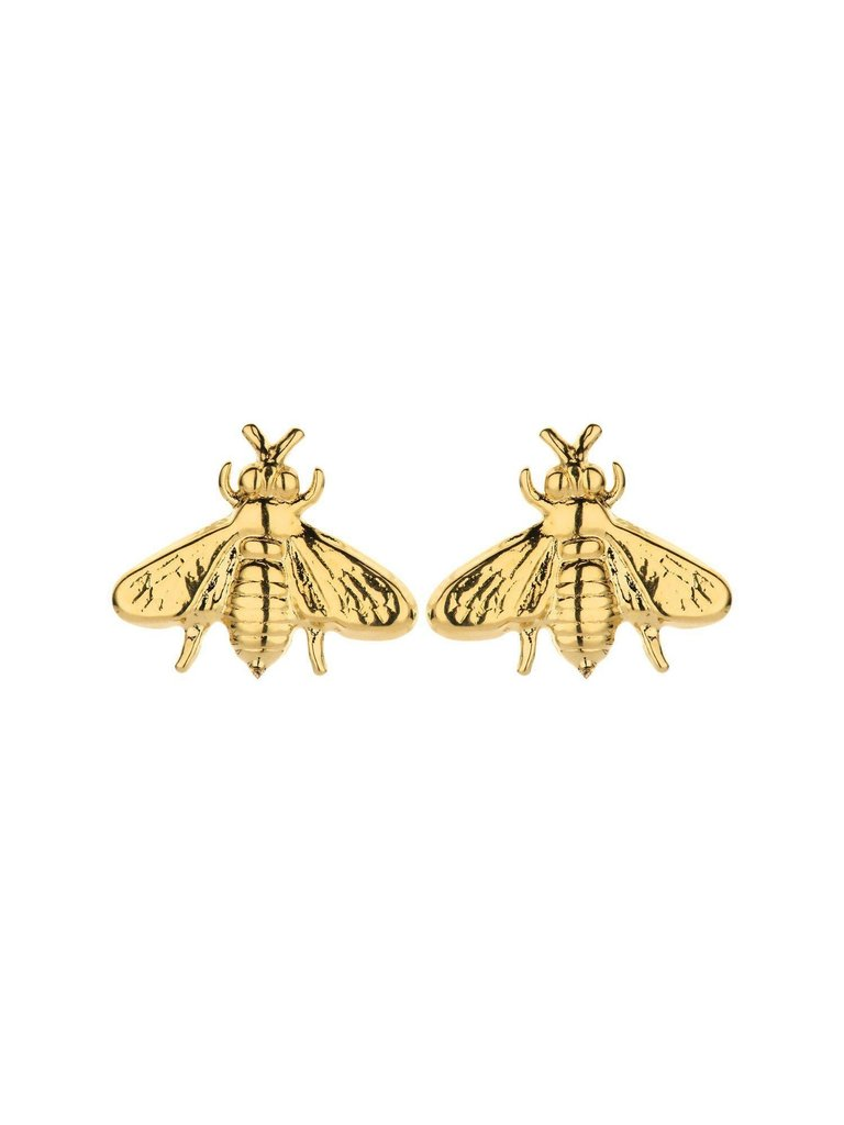 Souvenirs de Pomme Souvenirs de Pomme Bee shortie earrings gold
