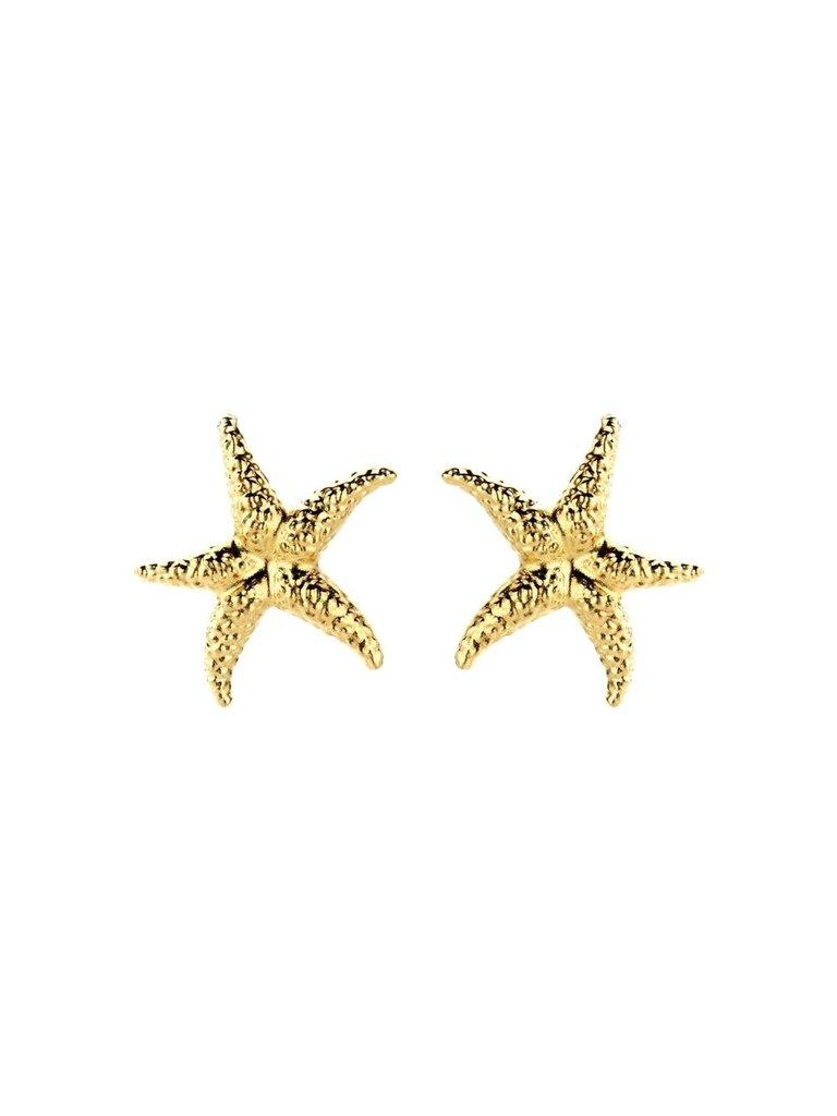 Souvenirs de Pomme Souvenirs de Pomme Seastar oorbellen goud