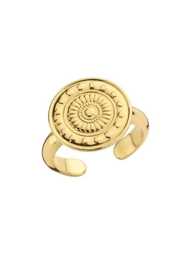 Souvenirs de Pomme Souvenirs de Pomme Peru coin ring gold