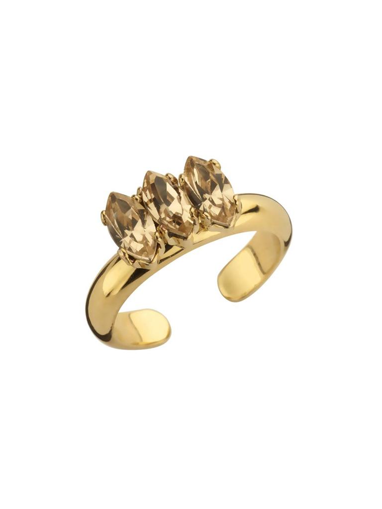 Souvenirs de Pomme Souvenirs de Pomme Navette Ring nackt Gold