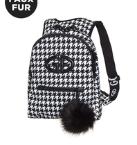 Goldbergh Goldbergh Handy backpack pied de poule print black and white