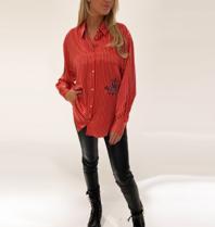 DMN Paris DMN Paris Chloe striped silk blouse red
