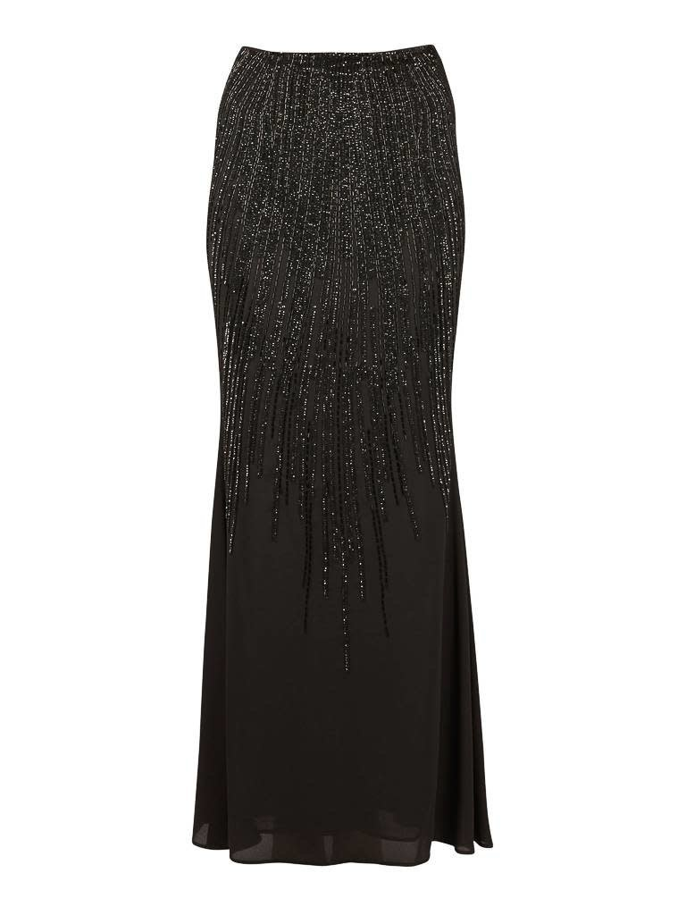 Elisabetta Franchi Elisabetta Franchi Maxi skirt with sequins black