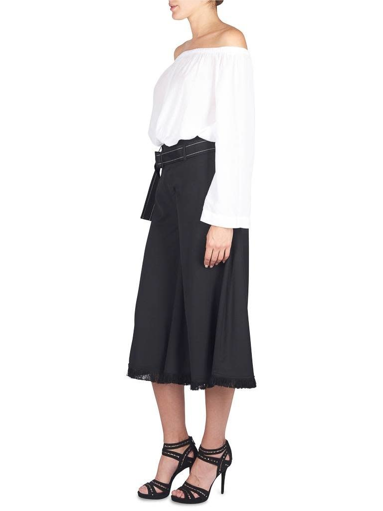 Áeron Cropped flair pants with belt black