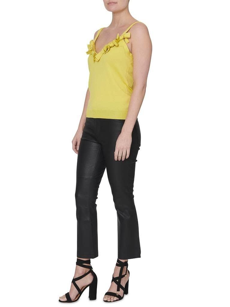 Boutique Moschino top met strik details geel