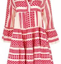 Devotion Andachtskleid mit Aufdruck rot weiß