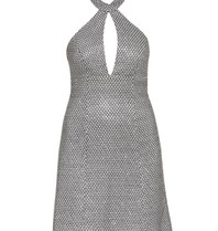 Forever Unique Forever Unique Nani edited halter dress silver