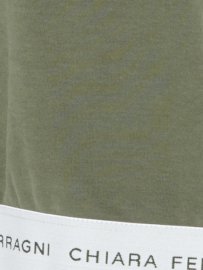 Chiara Ferragni crop t-shirt green