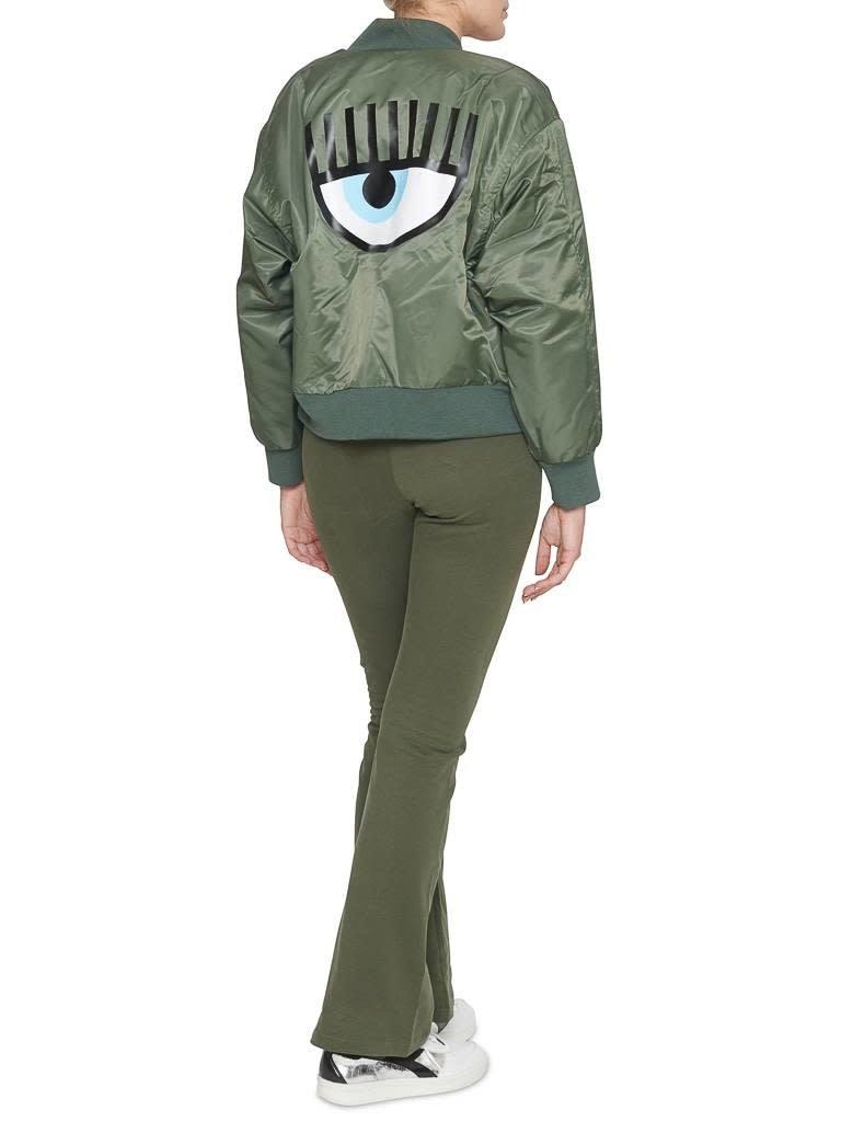 Chiara Ferragni crop t-shirt groen