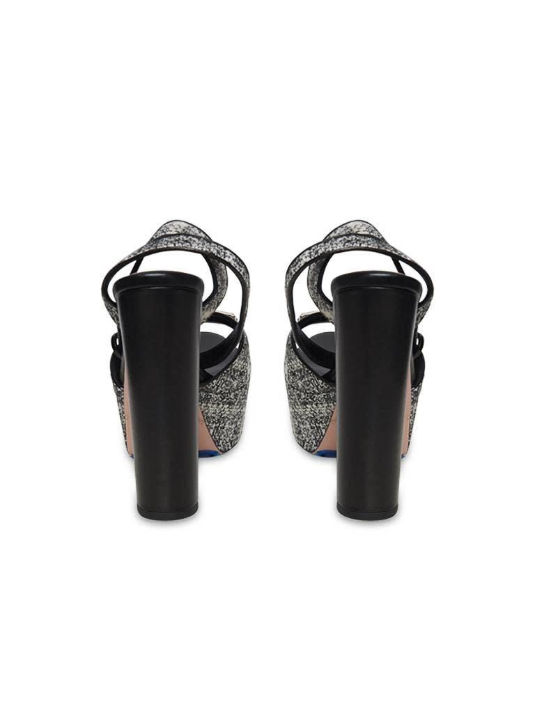 Elisabetta Franchi Elisabetta Franchi platform heels with tweed fabric black