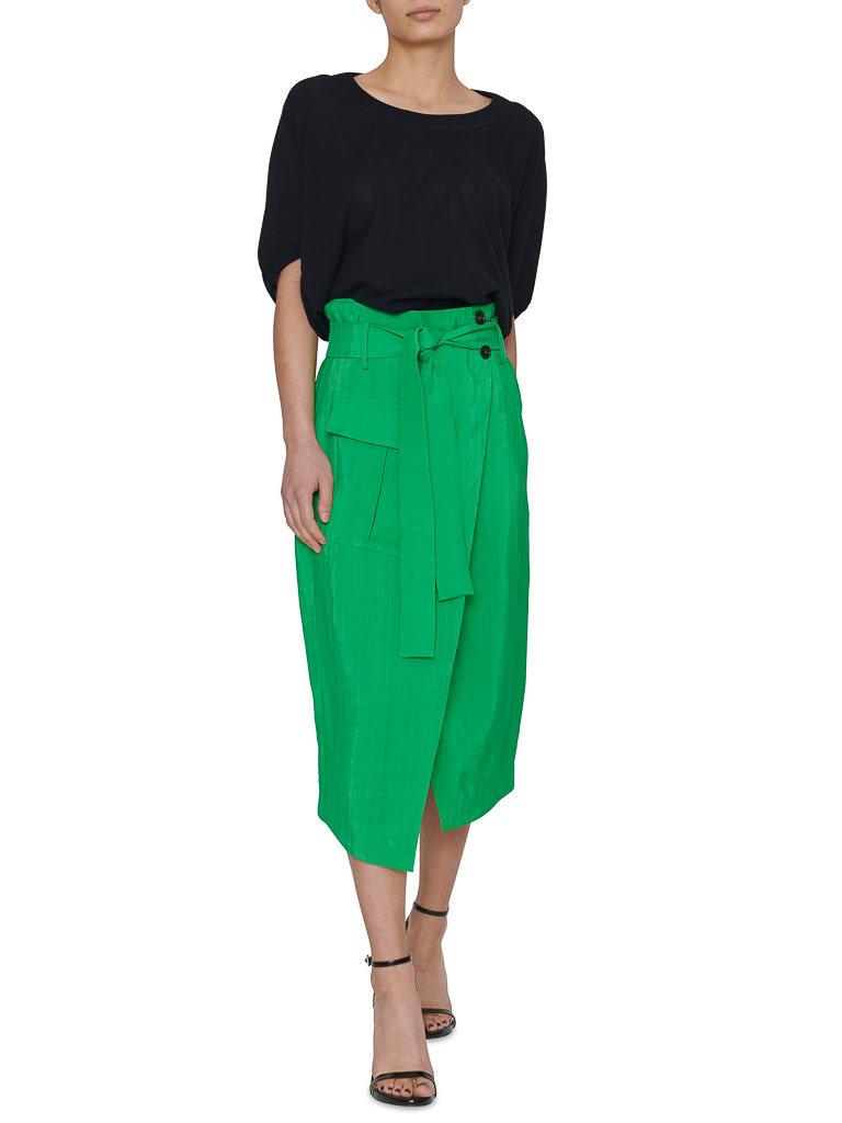 Erika Cavallini Erika Cavallini wrapskirt with belt green