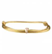 Goldbandits GoldBandits koord armband Baby Foot rosé goud