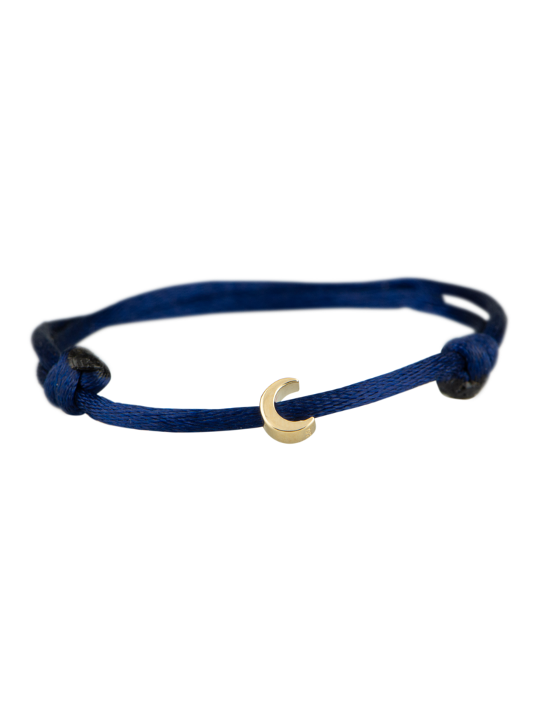 Goldbandits GoldBandits cord bracelet Moon yellow gold